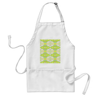 Vibrant Bright Lemon Lime Pastel Tribal Standard Apron