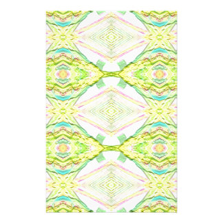 Vibrant Bright Lemon Lime Pastel Tribal Stationery
