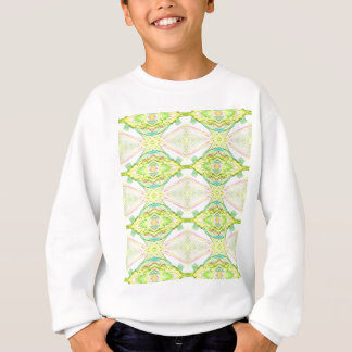 Vibrant Bright Lemon Lime Pastel Tribal Sweatshirt