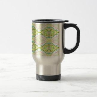 Vibrant Bright Lemon Lime Pastel Tribal Travel Mug