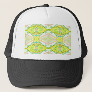 Vibrant Bright Lemon Lime Pastel Tribal Trucker Hat