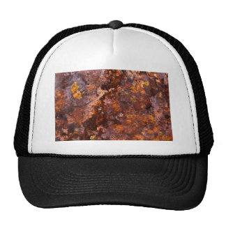 Vibrant Brown Rustic Iron Texture Hats