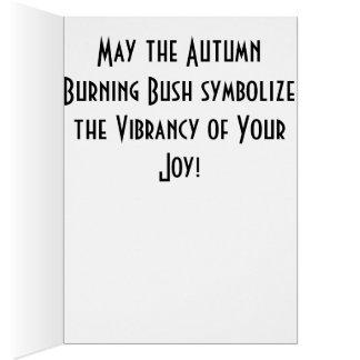 Vibrant Burning Bush of Joy Greeting Card
