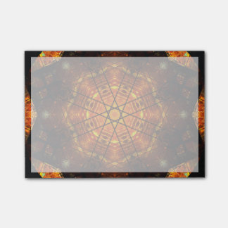 Vibrant Burning Star Mandala Post-it® Notes
