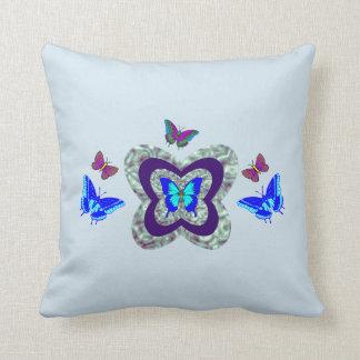 Vibrant Butterflies Throw Pillow