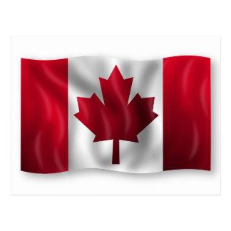Vibrant Canadian National Flag Postcard
