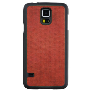 Vibrant Christmas Red Chenille Fabric Texture Maple Galaxy S5 Slim Case