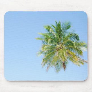 Vibrant coconut palm tree mouse pads