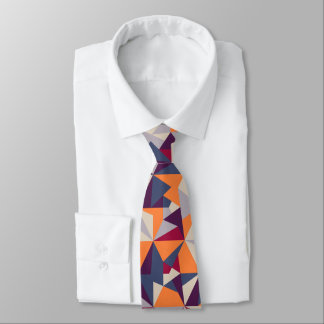 Vibrant color abstract pattern tie