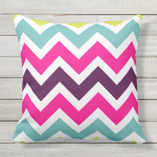 Vibrant color chevron pattern cushion