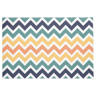 Vibrant color chevron pattern doormat