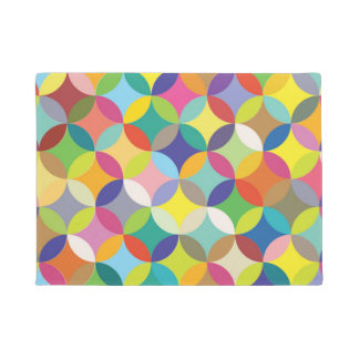 Vibrant color circles doormat