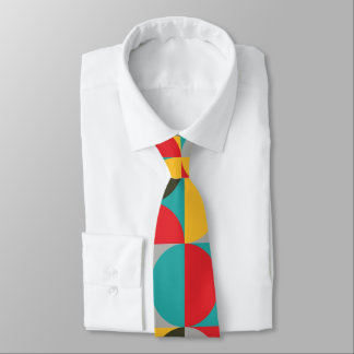 Vibrant color half circles pattern tie