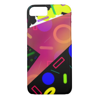 vibrant colored 80's retro abstract iPhone 7 case