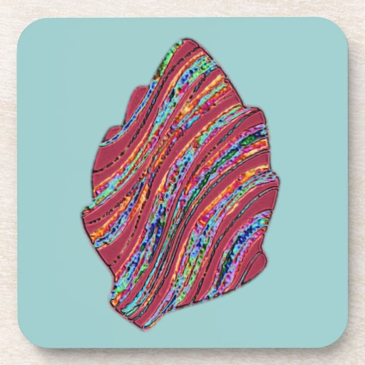 Vibrant Colored Fall Leaf Drink Coasters