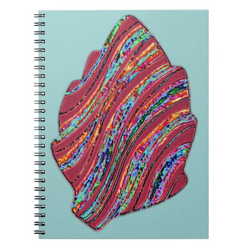Vibrant Colored Fall Leaf Notebook