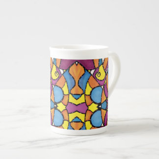 Vibrant Colorful Abstract Pattern Tea Cup