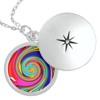 Vibrant Colorful Abstract Swirl of Melted Crayons Pendant