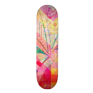 Vibrant Colorful Funky Abstract Girly Butterfly Ch 21.6 Cm Old School Skateboard Deck