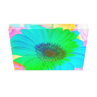 Vibrant Colorful Pastel Gerber Daisy Canvas Print