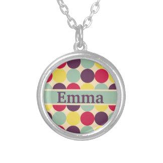 Vibrant Colourful Polka Dot Pattern Pendant