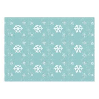 Vibrant Cute Christmas SnowFlakes Business Card