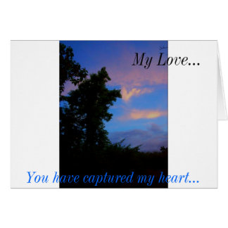 Vibrant Depths/ Poetry & Landscape Photography Greeting Card