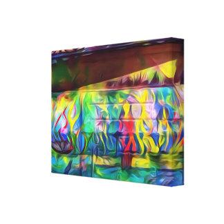 Vibrant digital painting wall canvas
