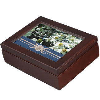 Vibrant Dogwood Triple Moon Handfasting Cord Box Keepsake Boxes