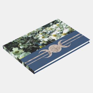 Vibrant Dogwood Triple Moon Handfasting Guest Book
