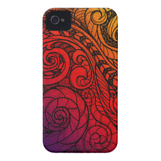 Vibrant Doodle Art iPhone 4 Case-Mate Cases