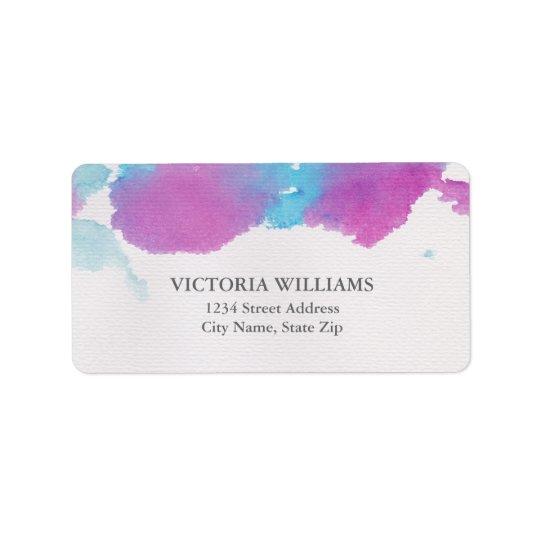 Vibrant Dreams Address Label