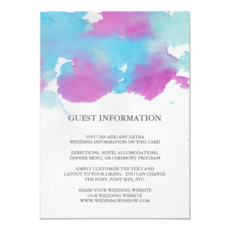 Vibrant Dreams Wedding Insert Card