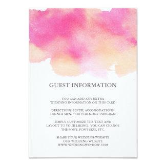 Vibrant Dreams Wedding Insert Card / Pink & Peach 11 Cm X 16 Cm Invitation Card
