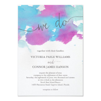 Vibrant Dreams Wedding Invitation