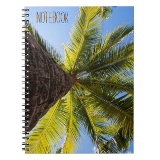 Vibrant Exotic Palm Tree Spiral Notebooks