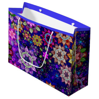 Vibrant Exploding Watercolor Mandalas - Big Large Gift Bag