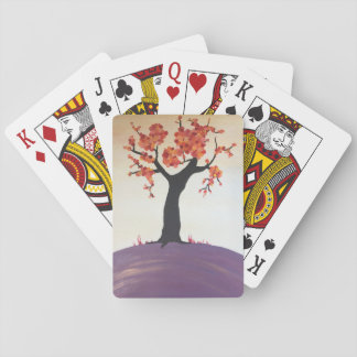 Vibrant Fall Tree Print Playing Cards
