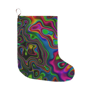 Vibrant Fantasy 7 Large Christmas Stocking