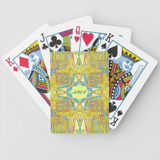 "Vibrant Festive Inspirational ""JOY"" Uncommon Bicycle Playing Cards"
