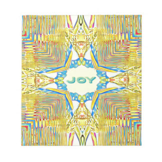 "Vibrant Festive Inspirational ""JOY"" Uncommon Notepad"