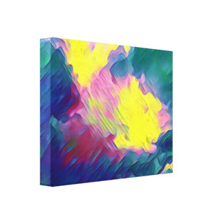 Vibrant Festive Multi-Color Abstract Pattern Canvas Print