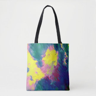Vibrant Festive Multi-Color Abstract Pattern Tote Bag
