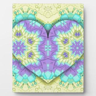 Vibrant Festive Multi+Colored  Heart Shape Plaque