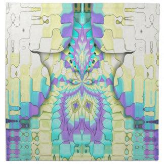 Vibrant Festive Neon Pastel Abstract  Pattern Napkin