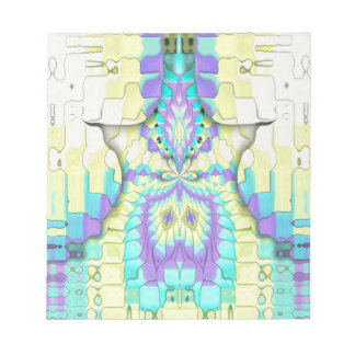 Vibrant Festive Neon Pastel Abstract  Pattern Notepad