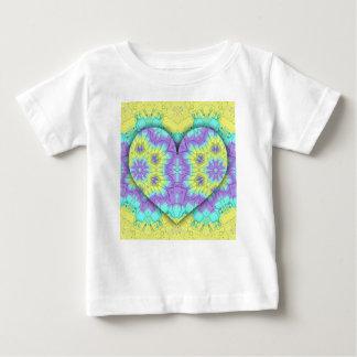 Vibrant Festive Pastel 3d Heart shaped. Baby T-Shirt