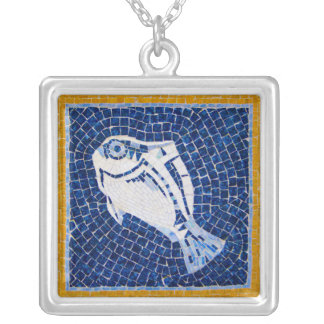 Vibrant Fish Mosaic Necklace