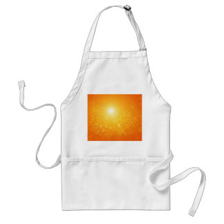 Vibrant floral abstract. standard apron