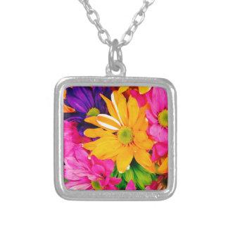 Vibrant Floral Art Necklace